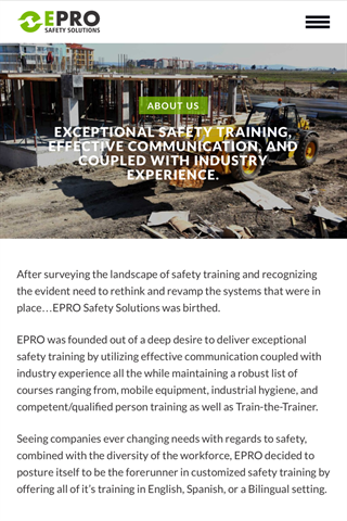 EPRO Safety- screenshot