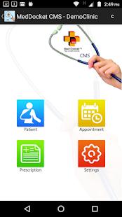 Med Docket CMS App - náhled