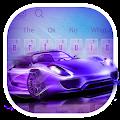 Neon Blue Sports Car Keyboard Theme APK