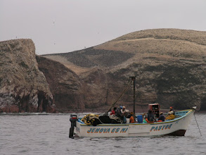 Photo: Islas Ballestas, rich fishing grounds, and in the last century a massive source of guano.