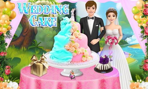 Wedding Cake Maker Girls Cooking Game apktram screenshots 1