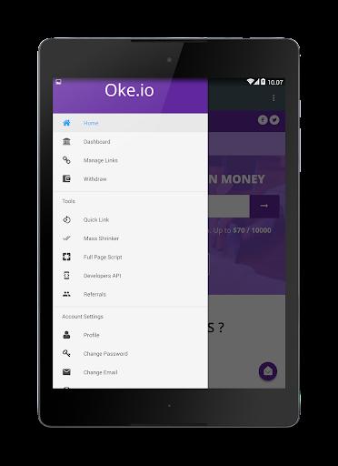 Oke.io - Shorten Urls and Earn Money! 1.0 screenshots 8