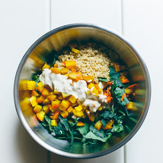Roasted Golden Beetroot, Quinoa + Kale Salad
