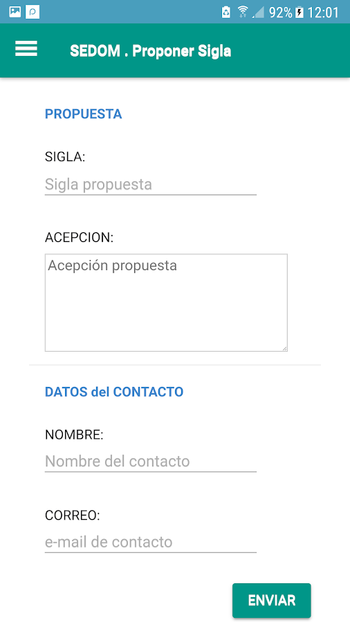 Diccionario SEDOM- screenshot