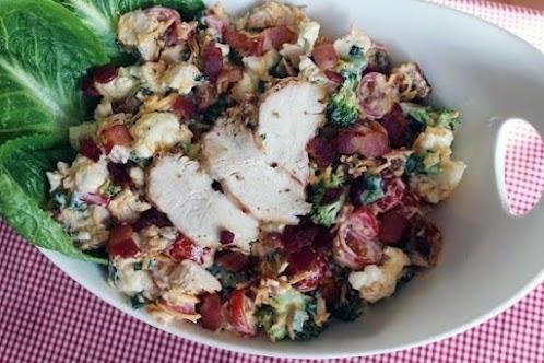 Click Here for Recipe: Peggi's Chicken-Bacon Ranch Salad