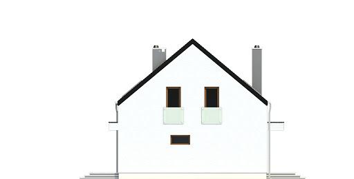 Sosnówka bez garażu bliźniak B-BL2 - Elewacja prawa