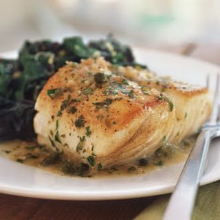 Fish with Lemon and Caper Sauce.