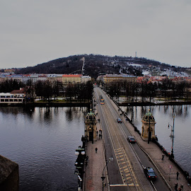 Bridge above Moldau by Luboš Zámiš - City,  Street & Park  Historic Districts