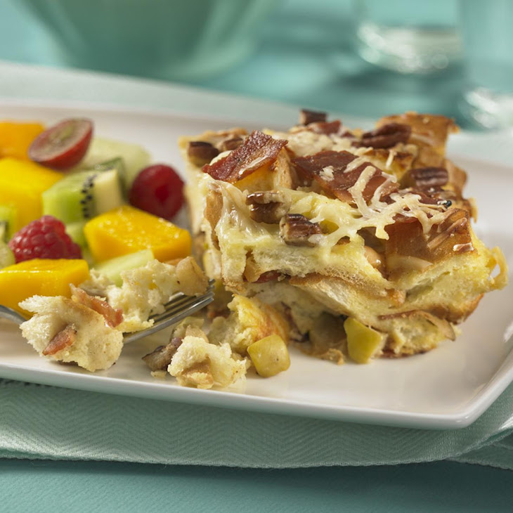 Apple and Bacon French Toast Strata