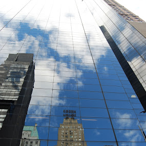 Essex House Reflection by Dan Allard - Buildings & Architecture Office Buildings & Hotels ( pwcarcreflections, reflection, skyscrapers, buildings, essex house, glass, nyc, new york, ny, central park,  )
