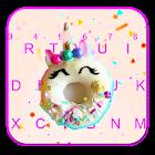 Pinky Donut Unicorn Tema de teclado icon
