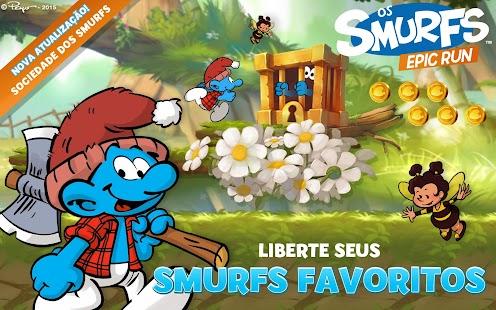 Os Smurfs Epic Run Imagen do Jogo