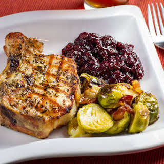 Grilled Pork Chops with Port Cherry Sauce.