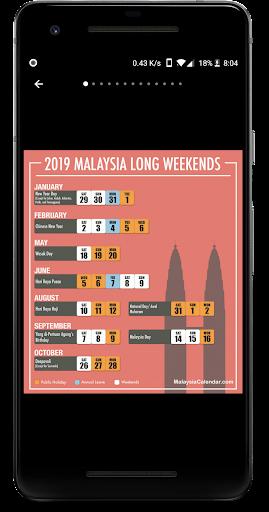 Calendar2U: Malaysia Calendar 2019 - 2021 HD 2.6.8 screenshots 2