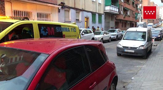 Imagen difundida por el 112 de la Comunidad de Madrid.