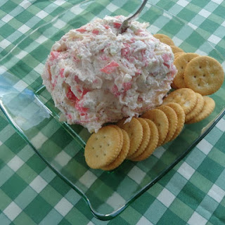 Crab Salad Cheese Ball or Spread.