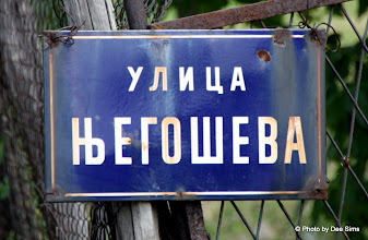 Photo: Day 79 - An Example of Serbian Writing  (House Name)