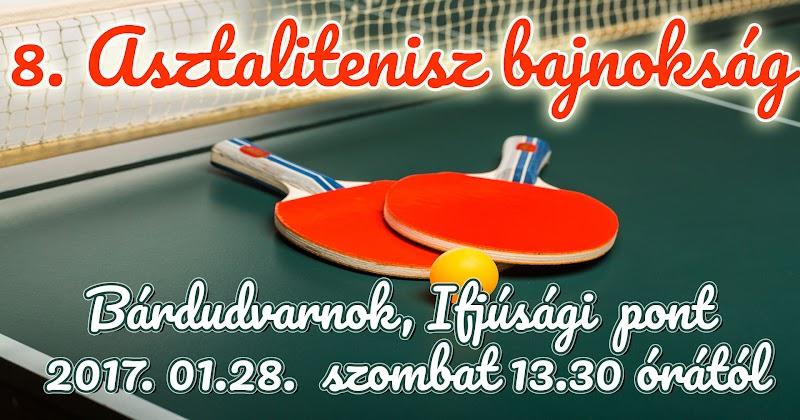 Asztalitenisz bajnokság Bárdudvarnok 2017.01.28