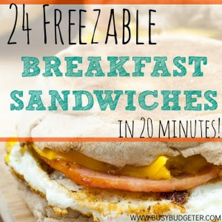 Batch Cooked Freezer Sausage, Egg and Cheese Breakfast Sandwiches