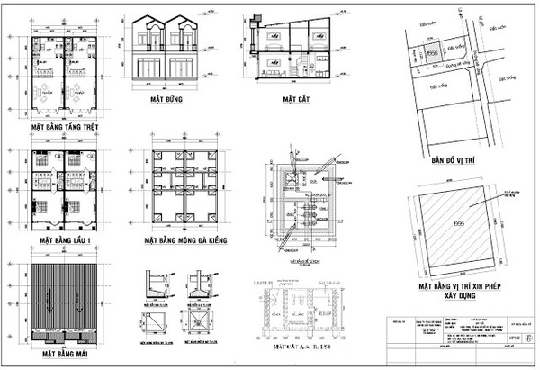 Có nhiều loại bản vẽ xây dựng khác nhau