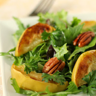 Salad with Broiled Apples and Pecans.
