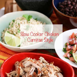 Slow Cooker Carnitas Style Chicken