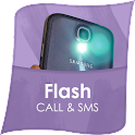 Flash Alert on Call and SMS icon