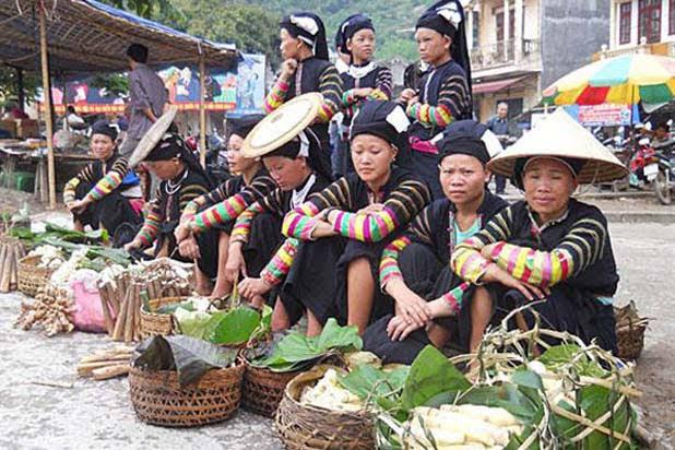 Le marché ethnique de Bao Lac