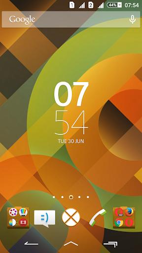 Pattern Orange Xperien Theme