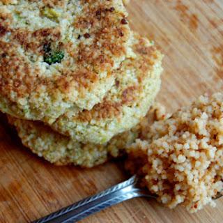 Broccoli & Cauliflower Couscous Cakes.