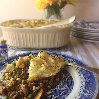 Beef & Mushroom with Sour Cream Mashed Potato Shepherd's Casserole.