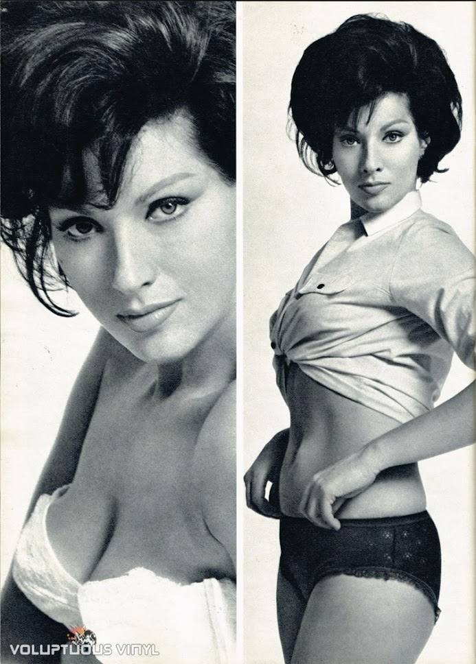 Helga Line cleavage modeling photos