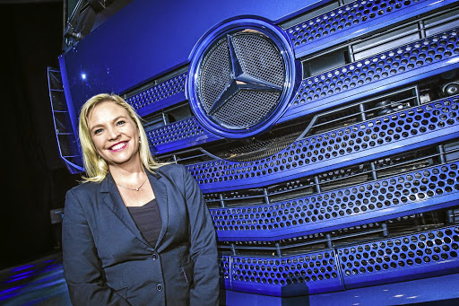 Maretha Gerber, head of Mercedes-Benz Trucks for Southern Africa. Picture: DAIMLER SA