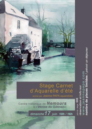 jeanne PAPA aquarelle _ STAGE NEMOURS