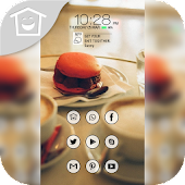 Tasty hamburger theme