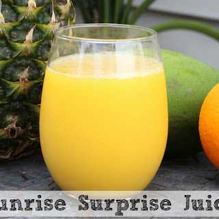 Sunrise Surprise Juice | Pineapple, Mango and Orange Juice!