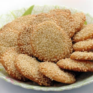 Barazek (Syrian Sesame Cookies).