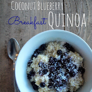 Coconut Blueberry Breakfast Quinoa.