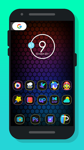 Mee Dark - Icon Pack app for Android screenshot