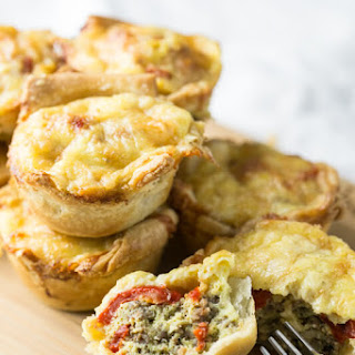Red Pepper Sausage Brunch Mini Quiches Recipe