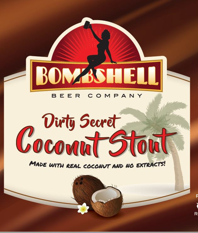 Logo of Bombshell Beer Dirty Secret Coconut Stout