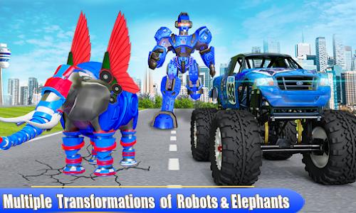 Flying Elephant Robot Transform Monster Truck Game 1.0.7
