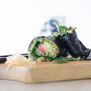 Seaweed rolls & Sweet Wasabi Pesto Dressing