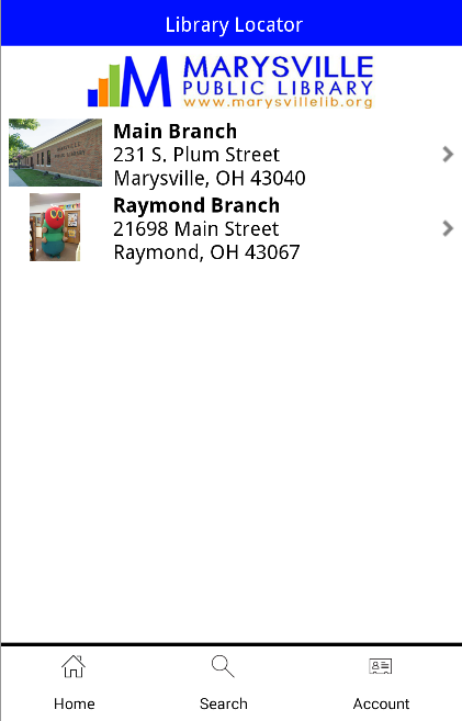 Marysville Public Library- screenshot