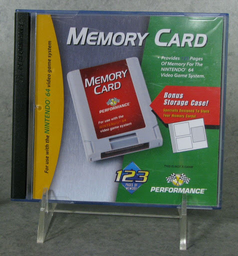 Video game accessory:Nintendo 64 Memory Card and Storage Case