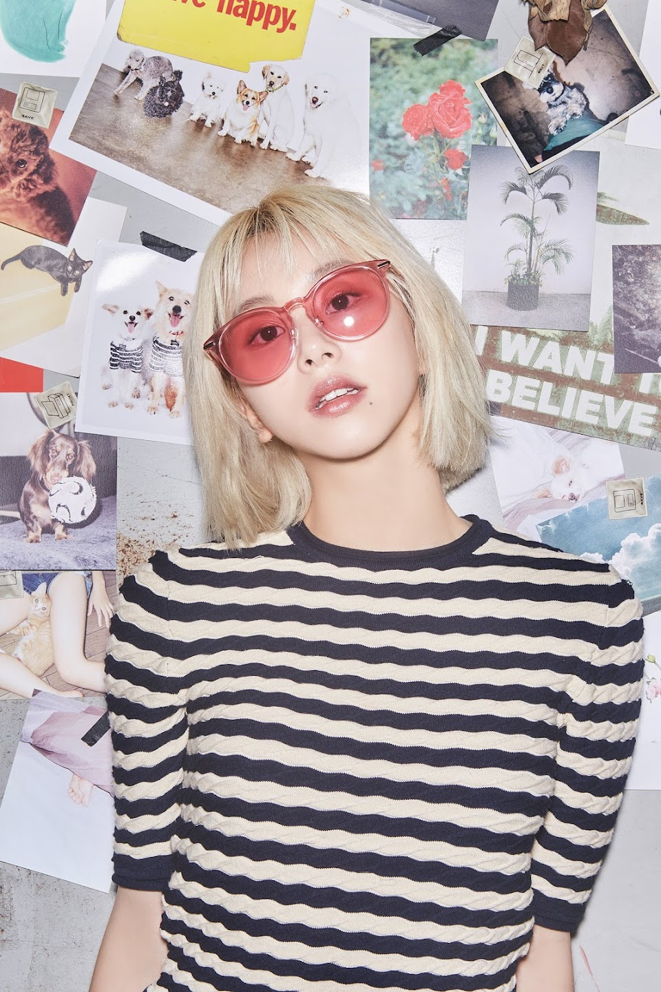 chaeyoung ohboy! pink sunnies