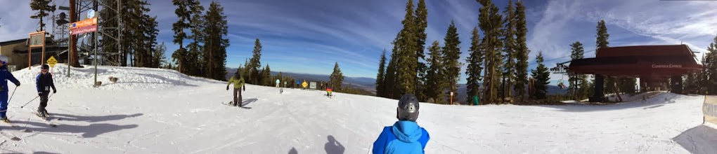 Photo: Top of Northstar resort.  January and looking out shows no snow