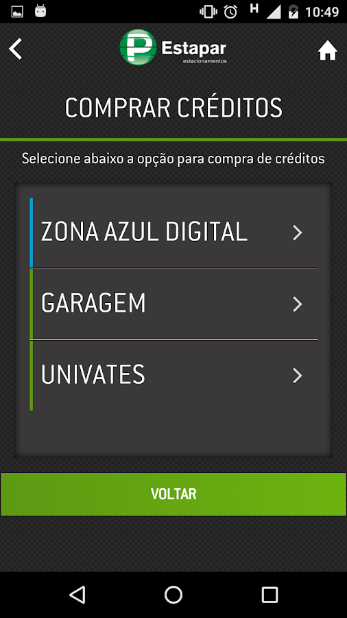 Zona Azul CET Vaga Inteligente- screenshot