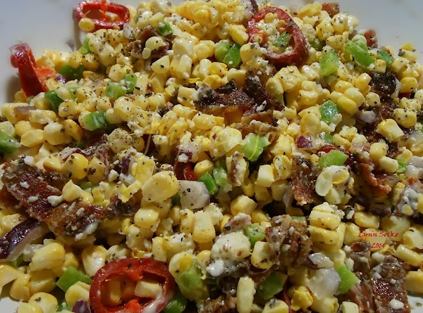 If using fresh peppers and red onion, add them to the corn, add bacon,...