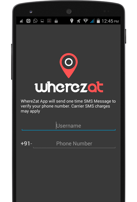 WhereZat - Share GPS Location- screenshot